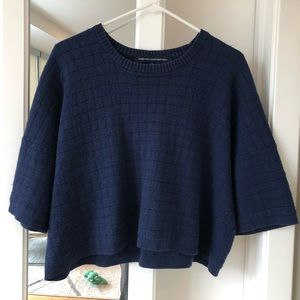 French Connection Blue Crop Top Sweater S